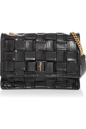Salvatore Ferragamo Viva Woven Leather Shoulder Bag
