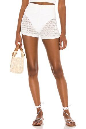 DEVON WINDSOR Cleo Shorts in White.