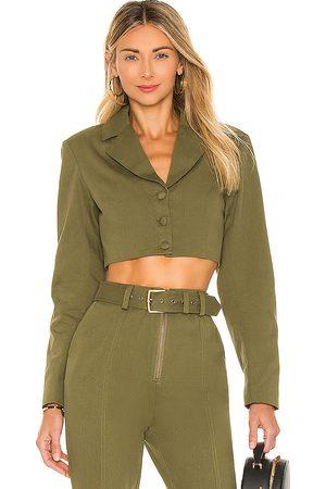 Camila Coelho Leticia Jacket in Green.