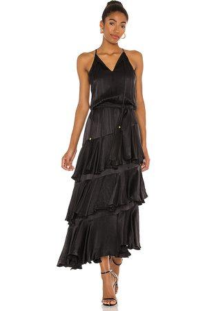 Karina Grimaldi Cassandra Solid Maxi Dress in .