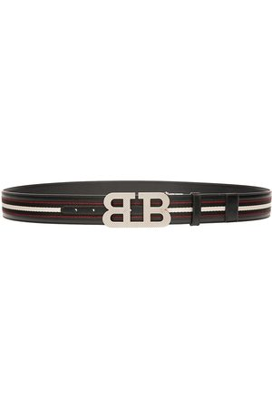 Bally Men's Mirror B Buckle Reversible Belt - - Size 48