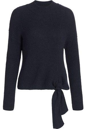 NAADAM Women's Mockneck Side-Tie Sweater - - Size Medium