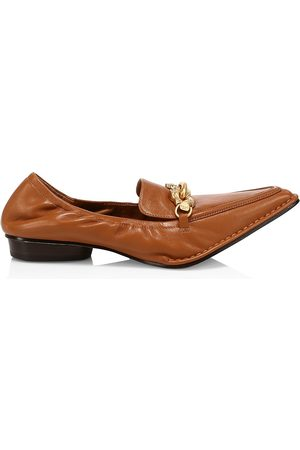 Tory Burch Women's Jessa Point-Toe Leather Loafers - - Size 8.5