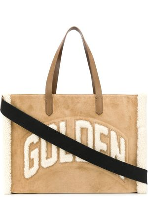 Golden Goose WOMEN'S GWA00120A00012955302 BEIGE LEATHER TOTE
