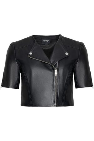 LaMarque Women's Kirsi Short-Sleeve Leather Jacket - - Size Small