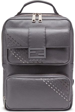 Fendi MEN'S 7VZ047A9ZFF10VX GREY LEATHER BACKPACK