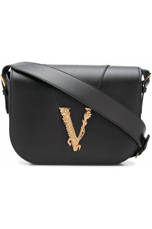 VERSACE WOMEN'S DBFH316D5VITK41OT LEATHER SHOULDER BAG