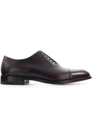Moreschi MEN'S NEWYORKBROWN LEATHER LACE-UP SHOES