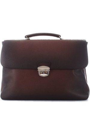Orciani MEN'S PB0015BROWN LEATHER BRIEFCASE