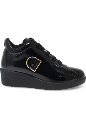Ruco Line RUCO LINE WOMEN'S RUCO226AVN PATENT LEATHER SNEAKERS