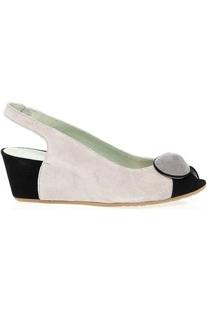 Martina WOMEN'S MART8101 BEIGE SUEDE WEDGES