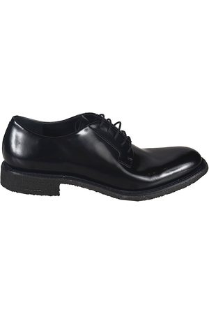 ROBERTO DEL CARLO WOMEN'S 10801NERO LEATHER LACE-UP SHOES