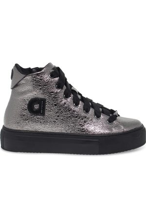 Ruco Line RUCO LINE WOMEN'S RUCO2819CA GREY LEATHER HI TOP SNEAKERS