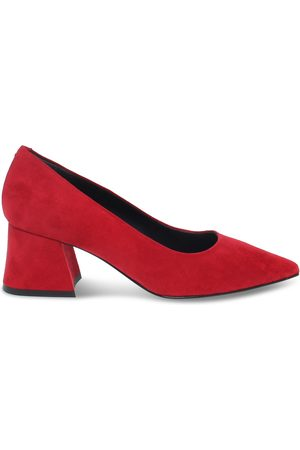Pollini WOMEN'S 10306RED SUEDE PUMPS