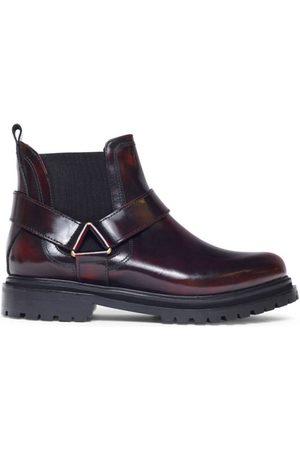 Hudson Hudson Moss Chelsea Boot in Patent Bordo