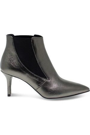 Janet&Janet WOMEN'S 44453GREY GREY LEATHER ANKLE BOOTS