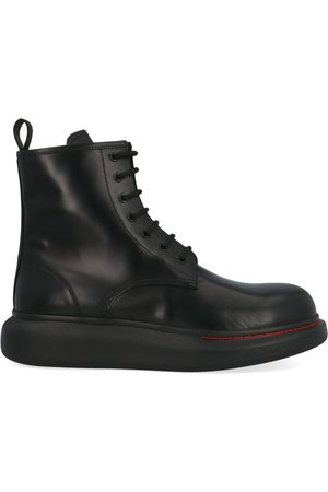 Alexander McQueen MEN'S 586191WHX511000 LEATHER ANKLE BOOTS