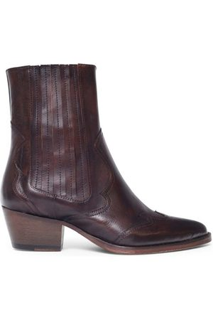 Hudson London Sienna Brown Leather Boot