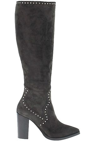 Janet&Janet WOMEN'S 40652 GREY SUEDE ANKLE BOOTS