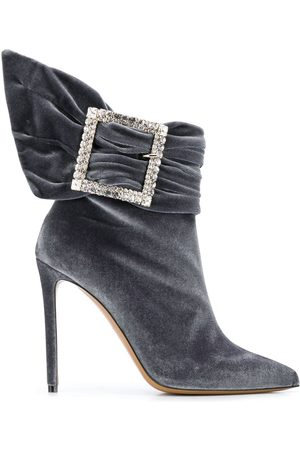 ALEXANDRE VAUTHIER WOMEN'S YASMINNEWBOOTIEXGREY GREY LEATHER ANKLE BOOTS