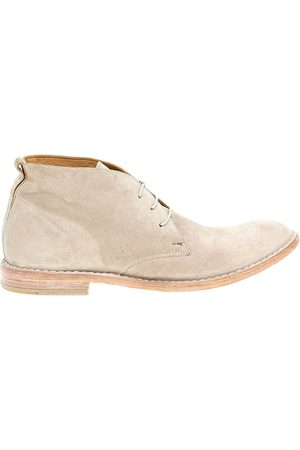 Moma MEN'S 14802 BEIGE SUEDE ANKLE BOOTS