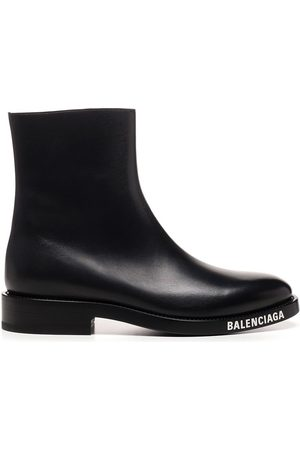 Balenciaga MEN'S 590717WA7201000 LEATHER ANKLE BOOTS