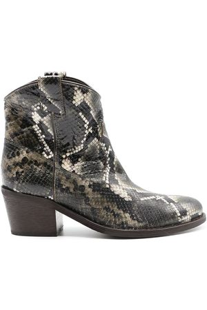 Via Roma WOMEN'S 3044PGREEN FAUX LEATHER ANKLE BOOTS