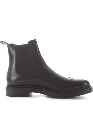 santoni Men Ankle Boots - MEN'S MGWB16953NERIRYCN01 LEATHER ANKLE BOOTS