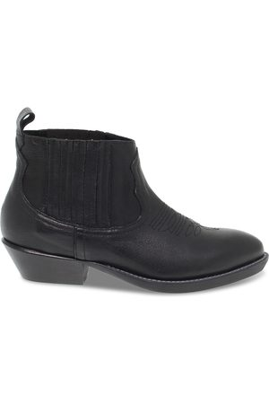 Ame ME BOOTS WOMEN'S MOONH30BLACK LEATHER ANKLE BOOTS