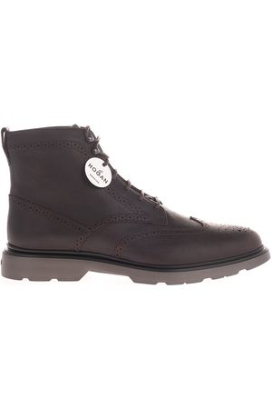 Hogan MEN'S HXM3930DC70O3RS807 LEATHER ANKLE BOOTS