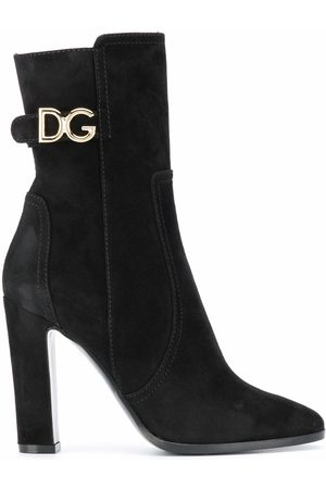 Dolce & Gabbana DOLCE E GABBANA WOMEN'S CT0669A127580999 SUEDE ANKLE BOOTS