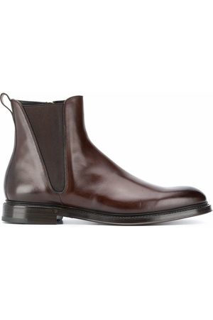 Dolce & Gabbana DOLCE E GABBANA MEN'S A60321AX03880048 LEATHER ANKLE BOOTS