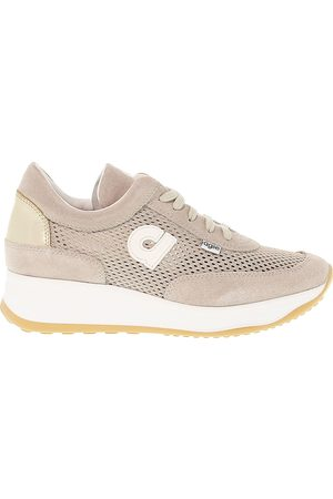 Ruco Line RUCO LINE WOMEN'S AGILE1304B BEIGE LEATHER SNEAKERS