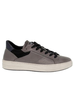 Crime london MEN'S 11604AA130 GREY LEATHER SNEAKERS