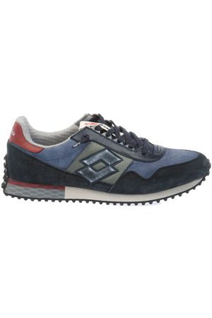 Lotto MEN'S T0856NAVYDK BLUE/ LEATHER SNEAKERS