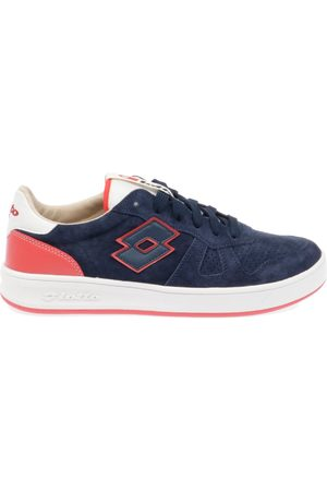 Lotto MEN'S T4565NAVY LEATHER SNEAKERS