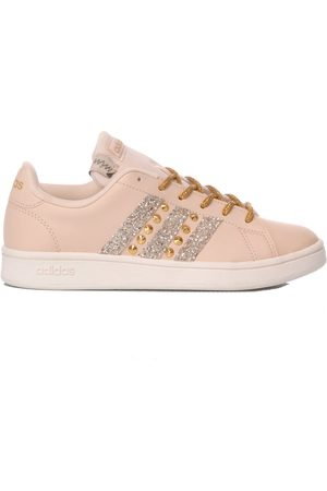 adidas WOMEN'S MIM563 LEATHER SNEAKERS