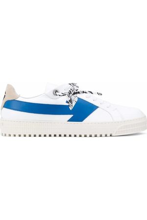 OFF-WHITE MEN'S OMIA177E20LEA0010145 LEATHER SNEAKERS