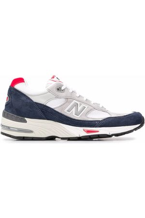 New Balance MEN'S NBM991GWR GREY SUEDE SNEAKERS