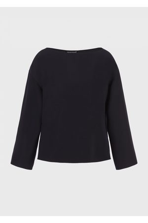 Emporio Armani Cady Blouse with Ribbon Detailing