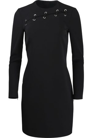 Moschino Boutique Long Sleeve Dress With Eyelet Detail