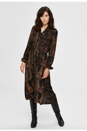 Selected Krola-oriana aop midi dress