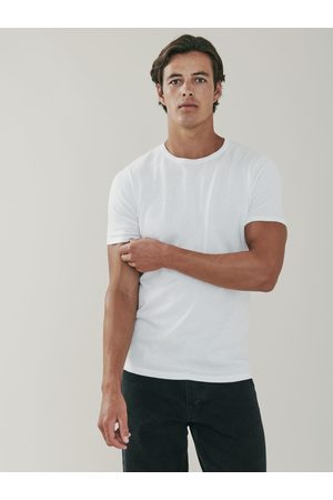 MrQuintessential Ark Cotton and Cashmere T Shirt - Chalk