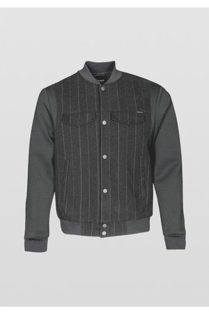 Antony Morato Men Bomber Jackets - Pin Stripe Bomber Sweatshirt Colour: