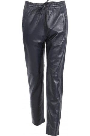Oakwood Gift Navy Leather Trousers
