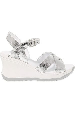 Ruco Line RUCO LINE WOMEN'S 1871SILVER LEATHER SANDALS