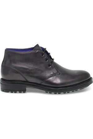 Artisti e Artigiani Men Ankle Boots - MEN'S AEA8134 GREY LEATHER ANKLE BOOTS