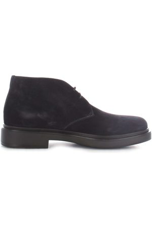 santoni MEN'S MGWB10002NERISYWU60 SUEDE ANKLE BOOTS