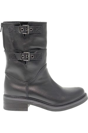 San Crispino WOMEN'S 234BLACK LEATHER ANKLE BOOTS