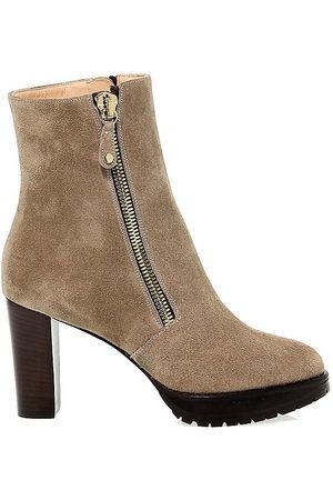 LELLA BALDI Women Ankle Boots - WOMEN'S LBAL7530 GREY SUEDE ANKLE BOOTS
